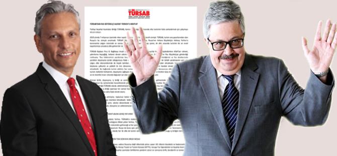 TÜRSAB Başkanı Firuz B. Bağlıkaya, Rusya'nın Ankara Büyükelçisi Aleksey Yerhov'a mektup gönderdi