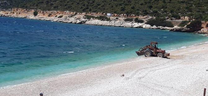 Gökliman Plajı'nda hazırlıklar başladı
