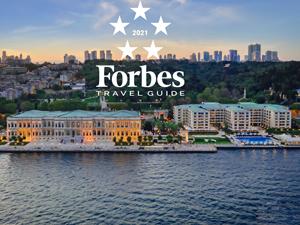 """Çırağan Sarayı'na Forbes Travel Guide'dan """"Beş Yıldız' Verildi"""