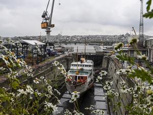 Haliç Tersanesi'nde bir yılda, 45 gemi bakımdan geçirildi
