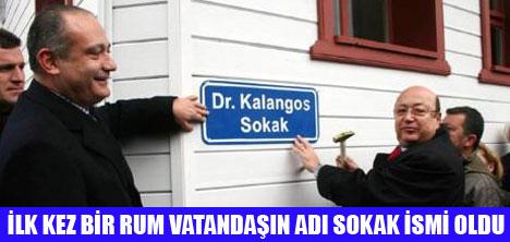 DR.KALANGOS'UN ADI SOKAĞA VERİLDİ