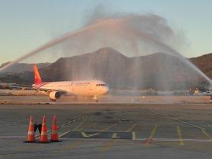 Gazipaşa-Alanya Kish Air'in ilk seferini karşıladı