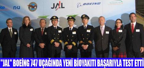 BOEİNG 747'DE  BİOYAKIT DENENDİ