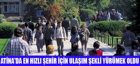 BAŞKENT ATİNA'DA TRAFİK ARAPSAÇI