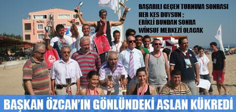 ERİKLİ'DE SU ALTI SPORLARI TAMAM, SIRA YELKENLİ SU ÜSTÜ SPORLARINDA..