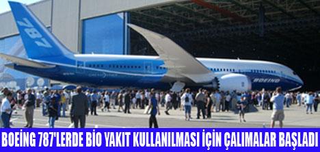 BOEİNG 787'LER YOSUNLA ÇALIŞACAK