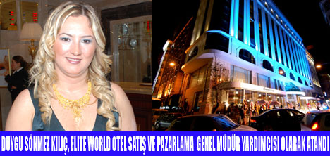 ELITE WORLD OTEL'DE ATAMA