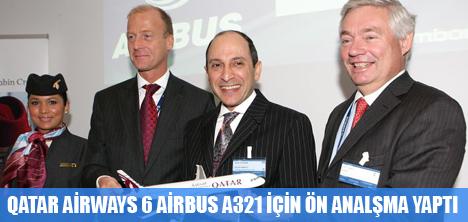 QATAR AIRWAYS, ALTI TANE A321 UÇAK ALIMI İÇİN ÖN ANLAŞMA İMZALADI