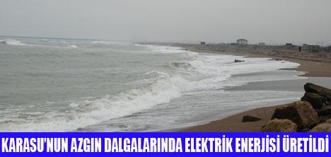 KARADENİZ'DE İLK AMPÜL YANDI