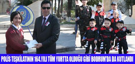 POLİS HAFTASI BODRUM'DA KUTLANDI