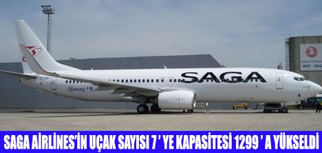 SAGA AİRLİNES'İN UÇAK FİLOSU BÜYÜYOR