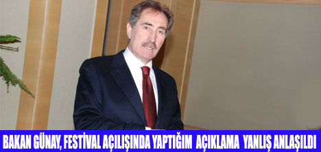 BAKAN GÜNAY,ERSOY'DAN ÖZÜR DİLEDİ