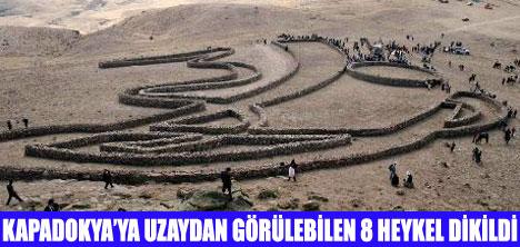 HEYKELLERE 15 TON TAŞ KULLANILDI
