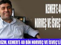 KEMER'E  40 BİN İSKANDİNAV TURİST