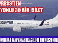SUNEXPRESS'TEN 30BİN PROMOYONLU BİLET