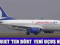 ANADOLUJET 'TEN YENİ HATLAR
