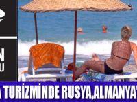 ANTALYA'DA RUSLAR ALMANLARI GEÇTİ