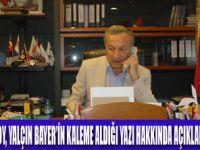 ULUSOY'DAN BAYER'E YANIT GELDİ