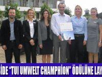 SENSİMAR SİDE'YE ŞAMPİYONLUK ÖDÜLÜ