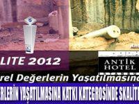 ANTİK HOTEL SKALİTE 2012'YE ADAY OLDU