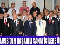 AOSB 2012 EN'LERİNE ÖDÜLLERİNİ VERDİ