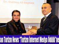 Turizm News'e bir ödül de ADRO'dan