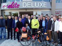 """İpekyolu'nda bisikletle """"barış"""" yolcusu"""