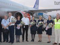Gazipaşa-Alanya ilk Airbus A321'i karşıladı