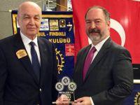 Rotary üstün meslek hizmeti ödülü verildi