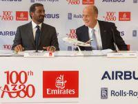 Emirates, 100. Airbus A380 uçağının filoya katılışını teslim alma töreniyle kutladı