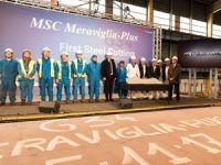 MSC Cruises yapım aşamasındaki 4 gemisinden, ikisinin tören heyecanını yaşıyor