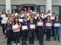 MAHED-GETOB-JULLIAN HOTELS işbirliği ile sonunda kursiyerlere belgeleri törenle verildi