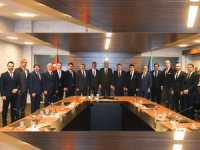 TÜRSAB Heyeti T.C. Kültür ve Turizm Bakanı Numan Kurtulmuş'u makamında ziyaret etti