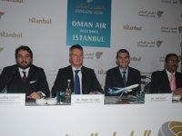 Muscat'tan İstanbul'a gelen Oman Air'e ait Boeing 737 Max, AHL'ye ilk teker koyan uçak olma özelliği yaşadı