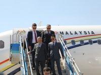 Malezya Başbakanı Muhammed, İstanbul Sabiha Gökçen Uluslararası Havalimanı'nda incelemelerde bulundu