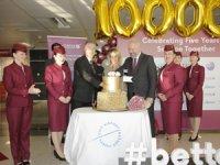 İstanbul Sabiha Gökçen Uluslararası Havalimanı Qatar Aırways'in 1 Milyonuncu Yolcusunu Özel Bir Törenle Karşıladı