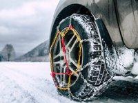 Kış şartlarında güvenli sürüş için kar zinciri veya kış lastiği şarttır