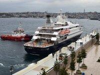 ilk yolcu gemisi Galataport İstanbul'a demirledi